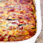 Zucchini Noodle Lasagna - low carb recipe via hungryhobby.net