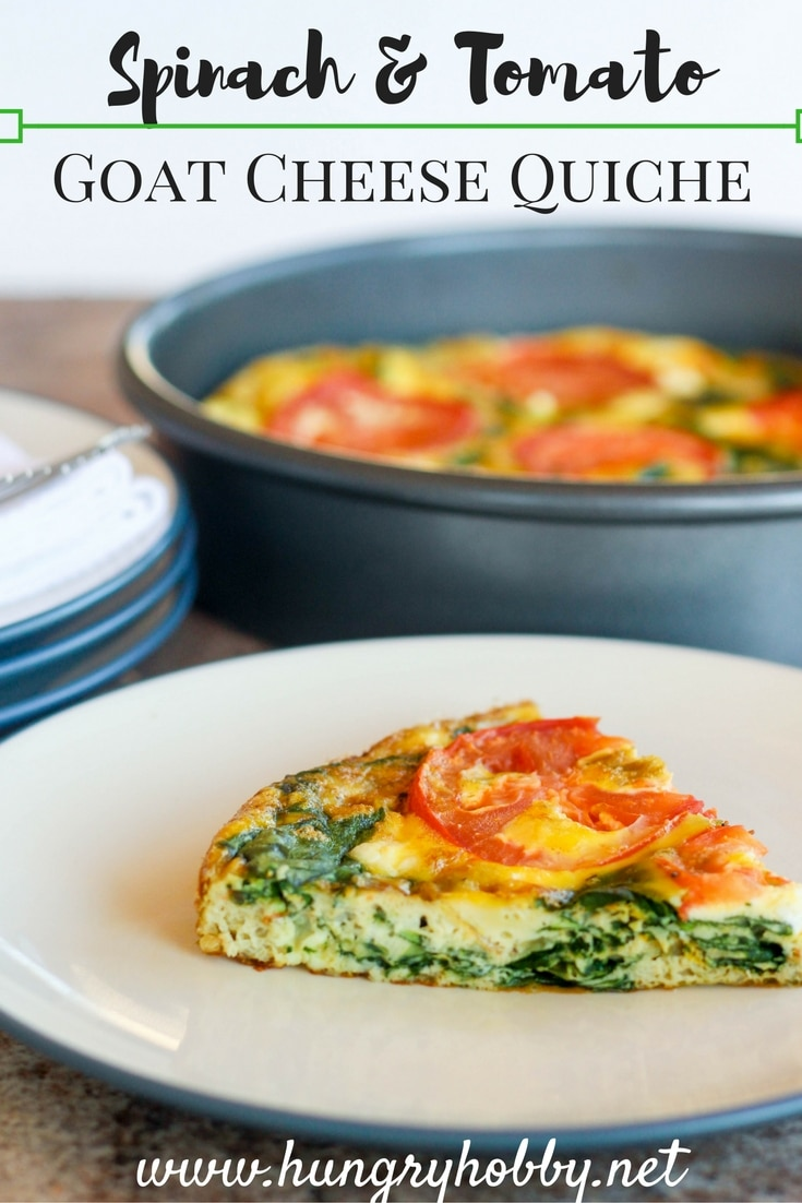 Spinach & Tomato Goat Cheese Quiche