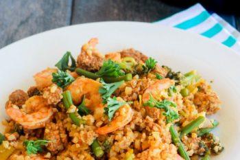 Healthy Paella Shrimp Paleo Gluten Free