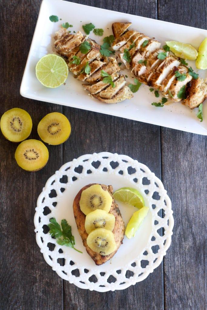 Kiwi Lime Marinated Chicken overhead 2