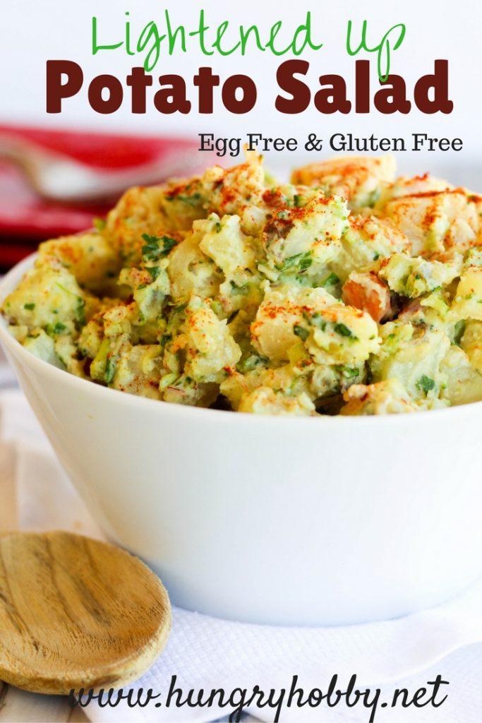 Lightened Up Potato Salad Egg Free Gluten Free www.hungryhobby.net