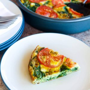 Tomato and Goat Chees Quiche