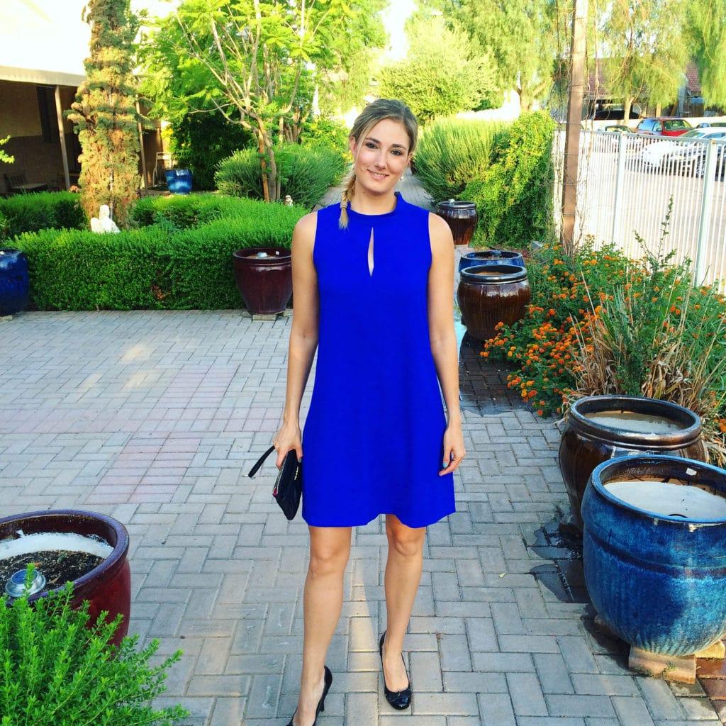kelli blue dress