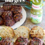 Jalapeno & Cheddar Stuffed Salsa Verde Burgers