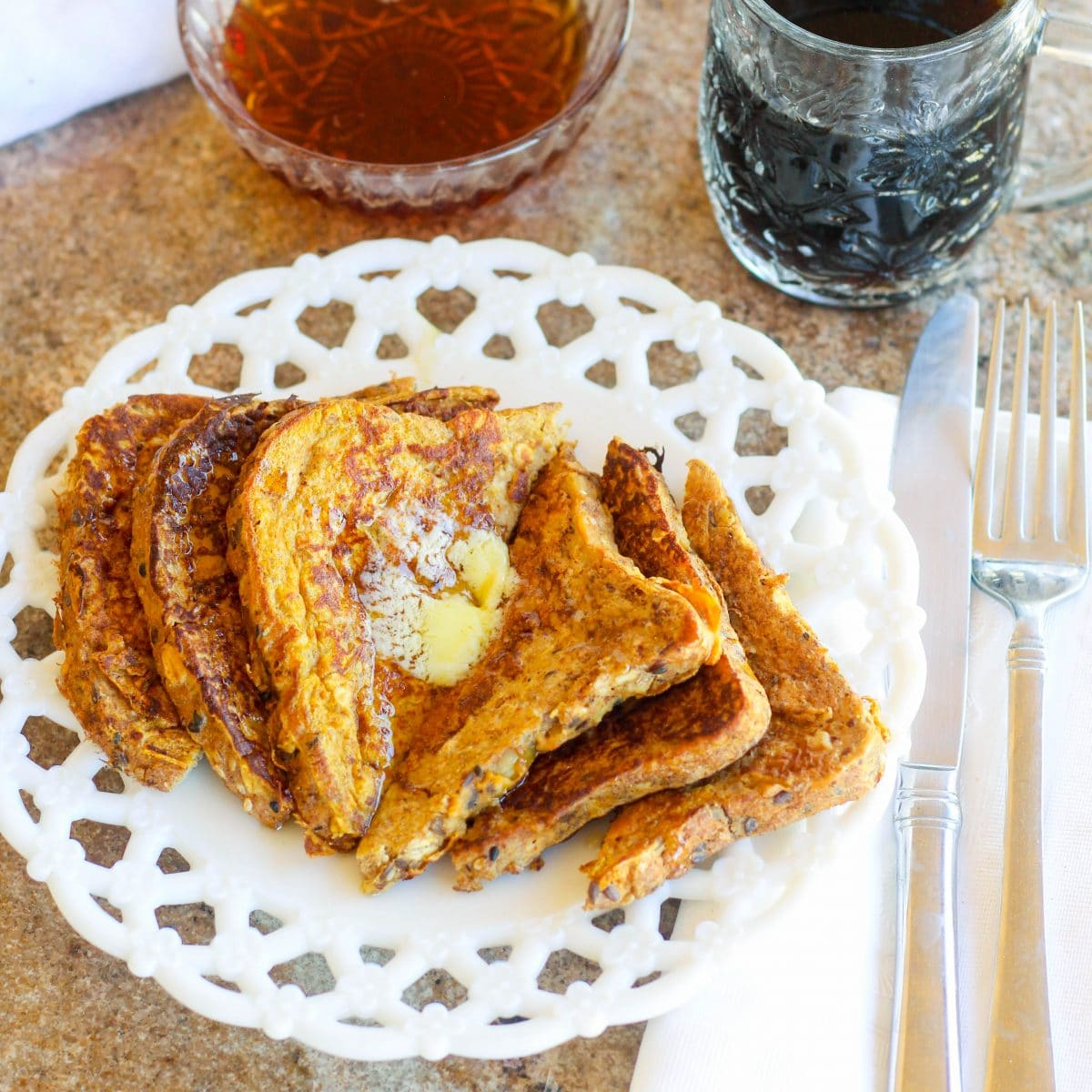 Healthy High Protein Pumpkin French Toast Hungry Hobby