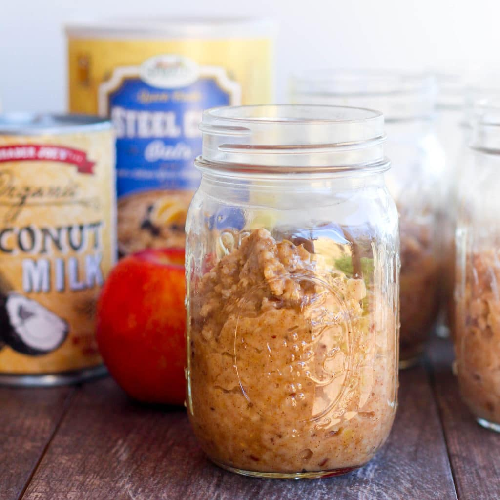 Cinnamon Apple Crockpot Oats- gluten free and vegan