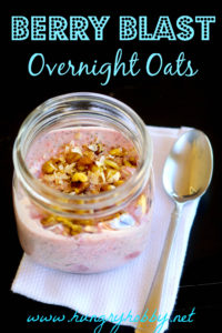 berry blast overnight oats www.hungryhobby.net