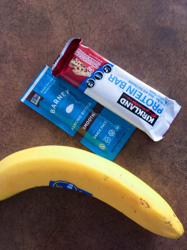 protein bar almond butter banana