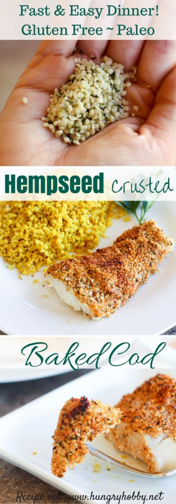 Hempseed Crusted Cod recipe via www.hungryhobby.net