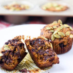 Chocolate Chip Pumpkin Muffins - Gluten, Grain, and Dairy Free - recipe via hungryhobby.net