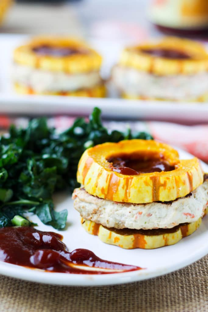 Paleo Autumn Turkey Burgers with Delicata Squash Buns