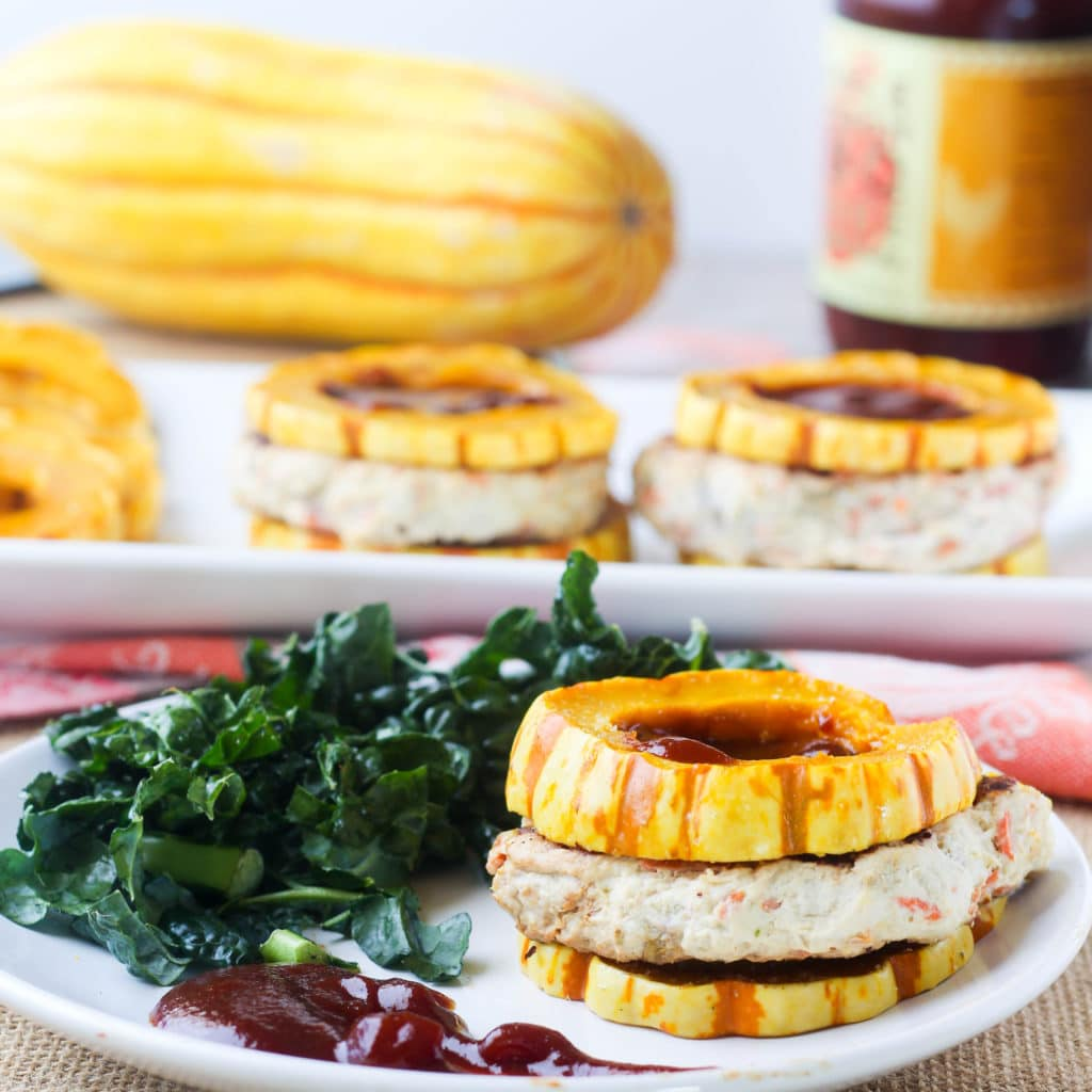 delicata-squash-bun-turkey-burgers-side