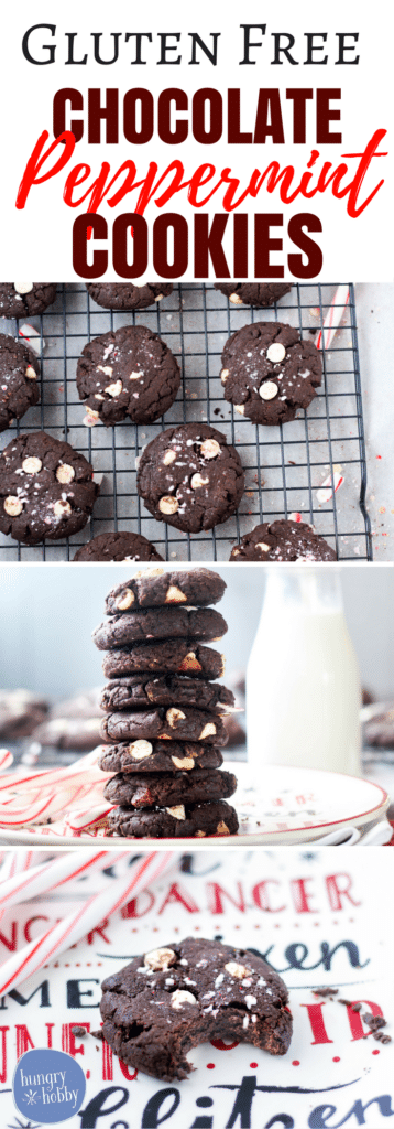 Gluten Free Chocolate Peppermint Cookies recipe via hungryhobby.net