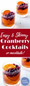 Skinny Cranberry Orange Easy Cocktails or Easy Mocktails