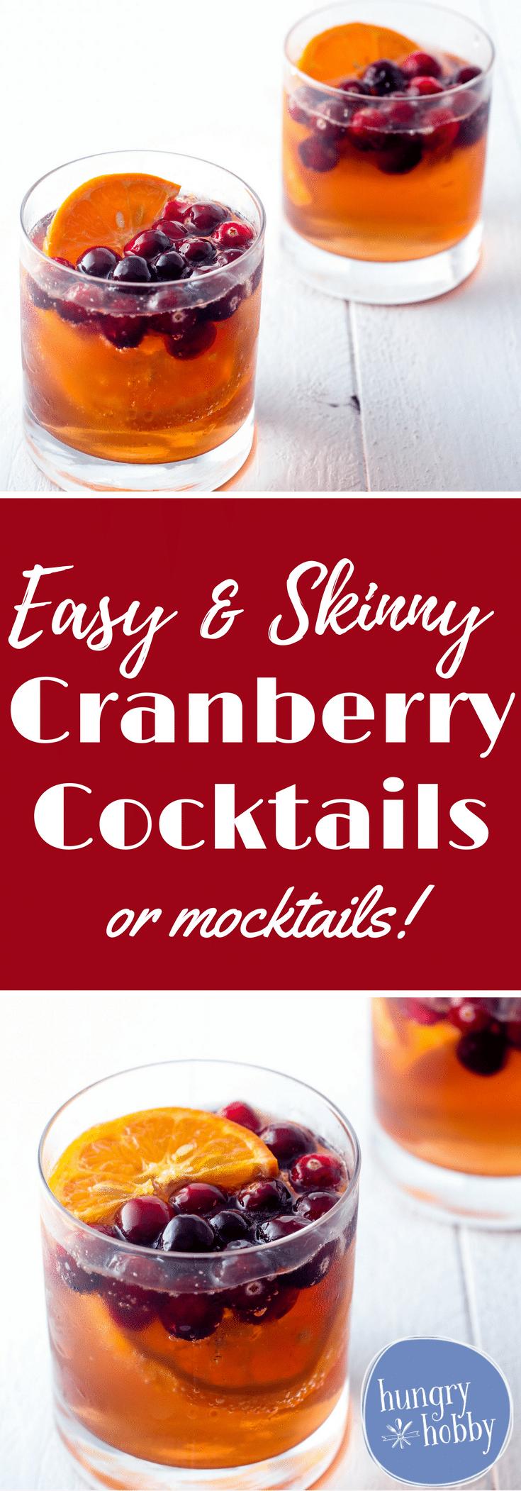 Skinny Cranberry Orange Easy Cocktails or Easy Mocktails recipe!