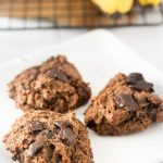 Double Chocolate Banana Paleo Cookies Gluten Free & Dairy Free Recipe via www.hungryhobby.net