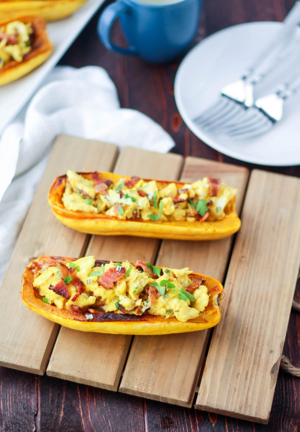 Breakfast Stuffed Delicata Squash (paleo, gluten free)