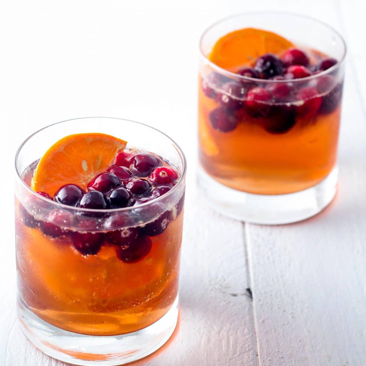 Skinny Cranberry Cocktails or Mocktails