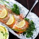 Garlic Dill Baked Salmon with Lemon Herb Butter