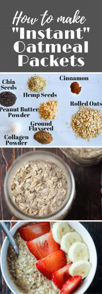 Skip the sugary packets of instant oats & make your own oats packed with protein, anti-inflammatory omega 3's & energy!