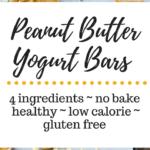 Peanut Butter Yogurt Bars