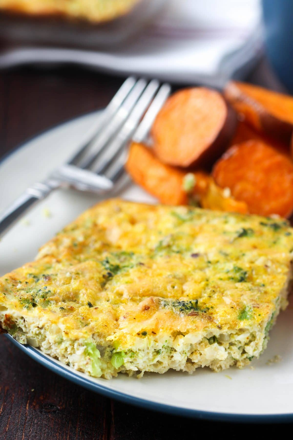 Broccoli & Cauliflower Rice Quiche