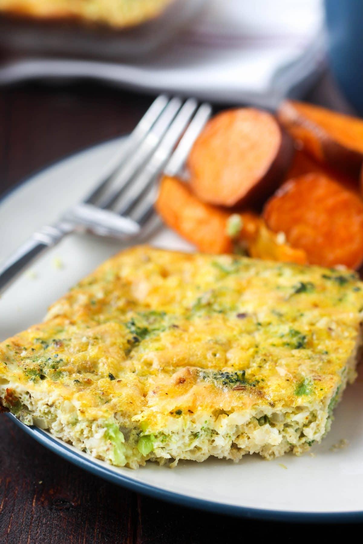 Broccoli & Cauliflower Rice Quiche