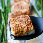 Sheet Pan Coconut Glazed Baked Cod  & Asparagus