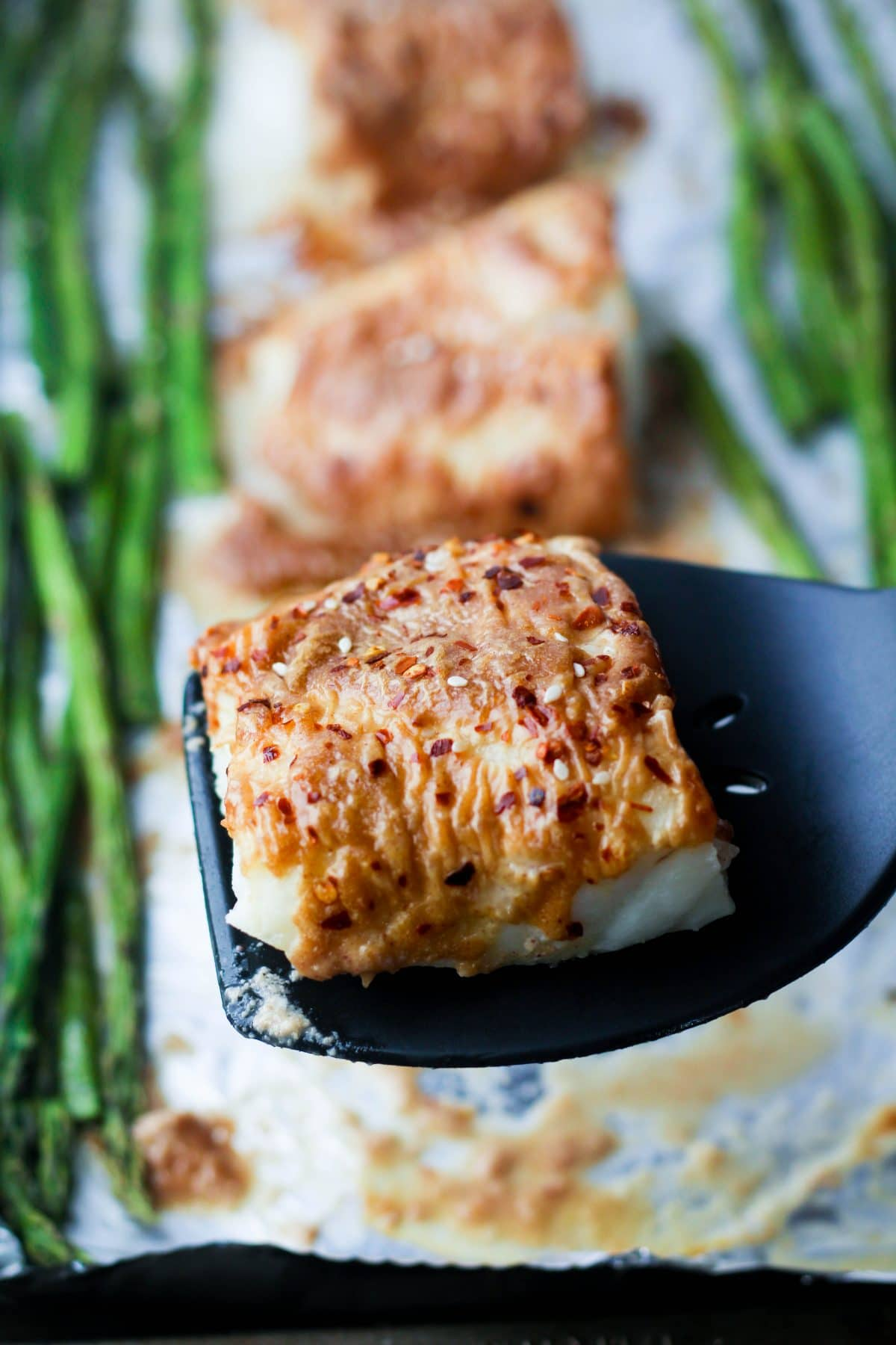Glazed Baked Cod & Asparagus
