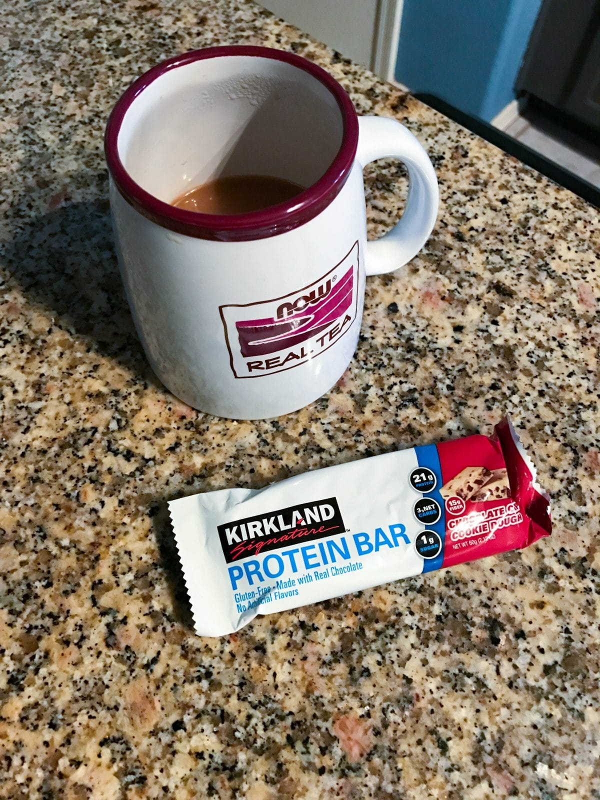kirkland protein bar and coffee