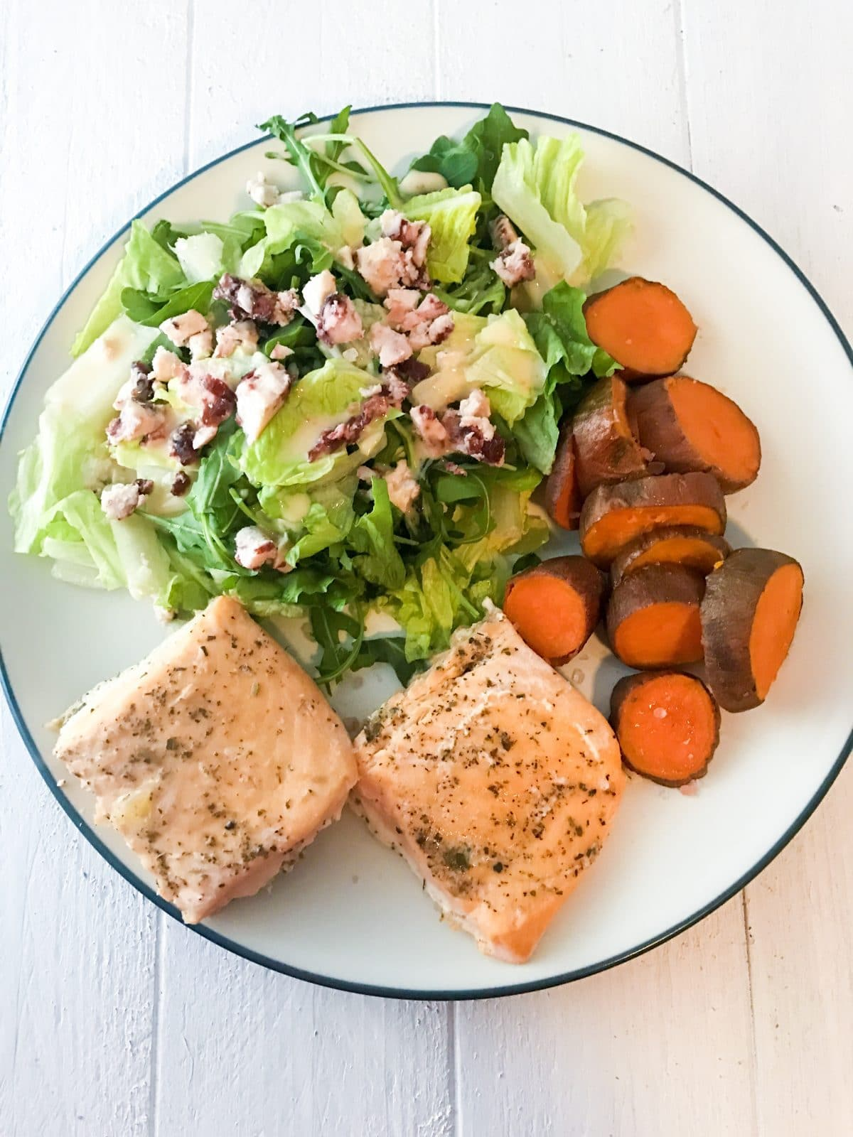 salmon, sweet potato and sa