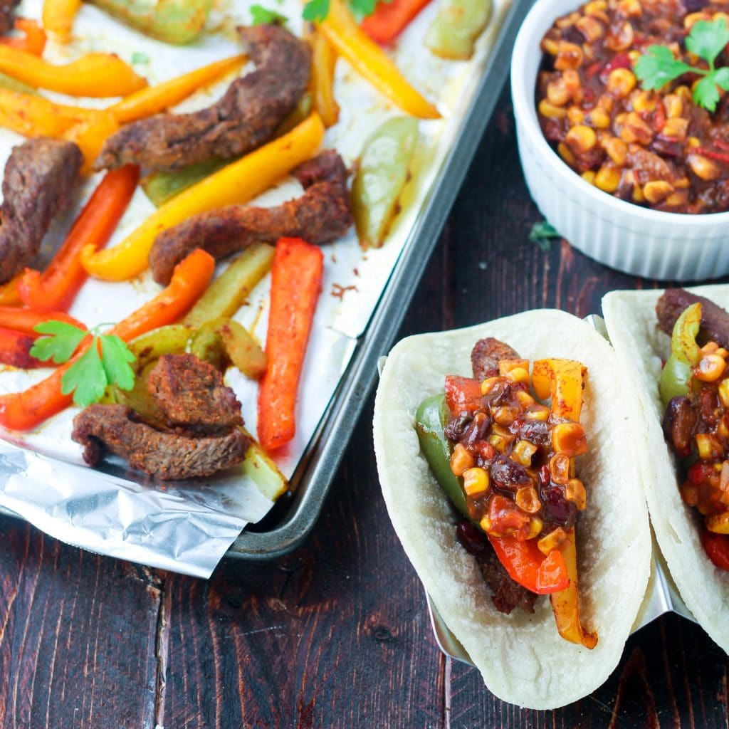 Sheet Pan Steak Fajitas - Paleo, Gluten and Dairy Free