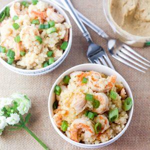 Cilantro Jalapeno Creamy shrimp Stir Fry