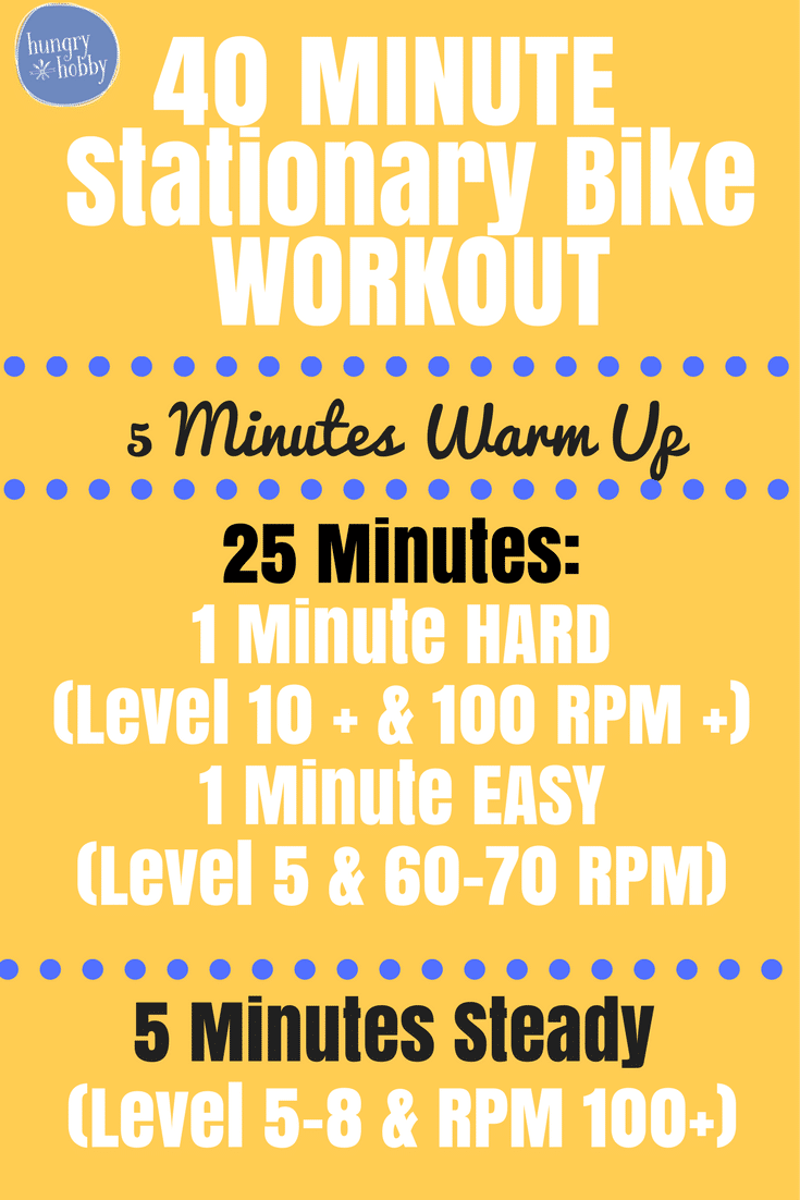 40 Minute Stationary Bike Workout