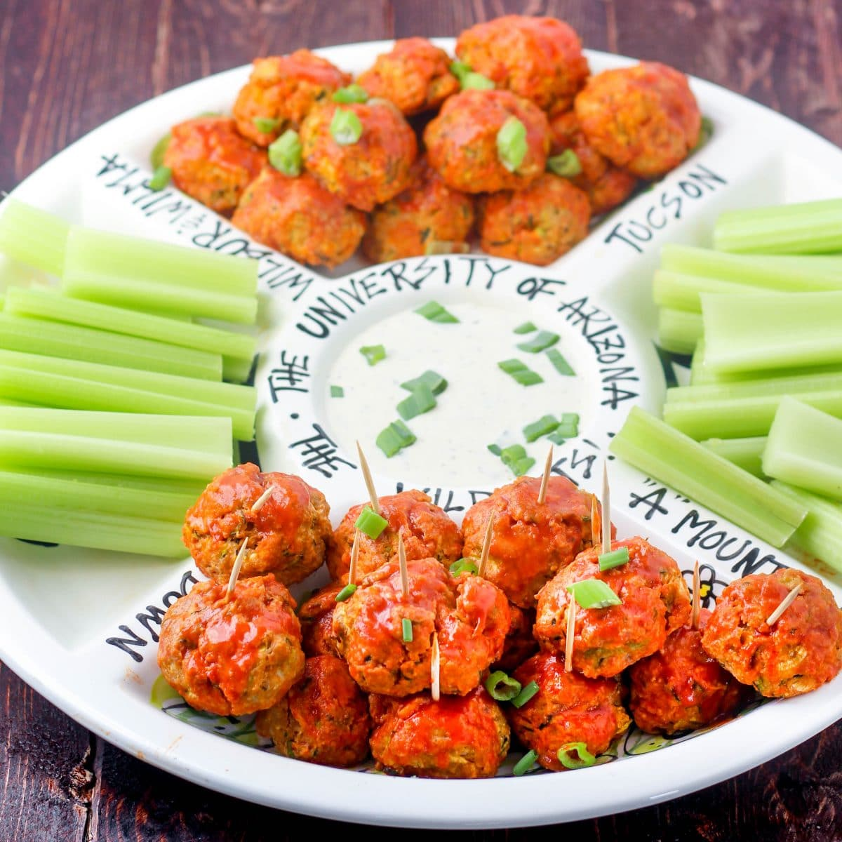 Gluten Free Buffalo Chicken Meatballs