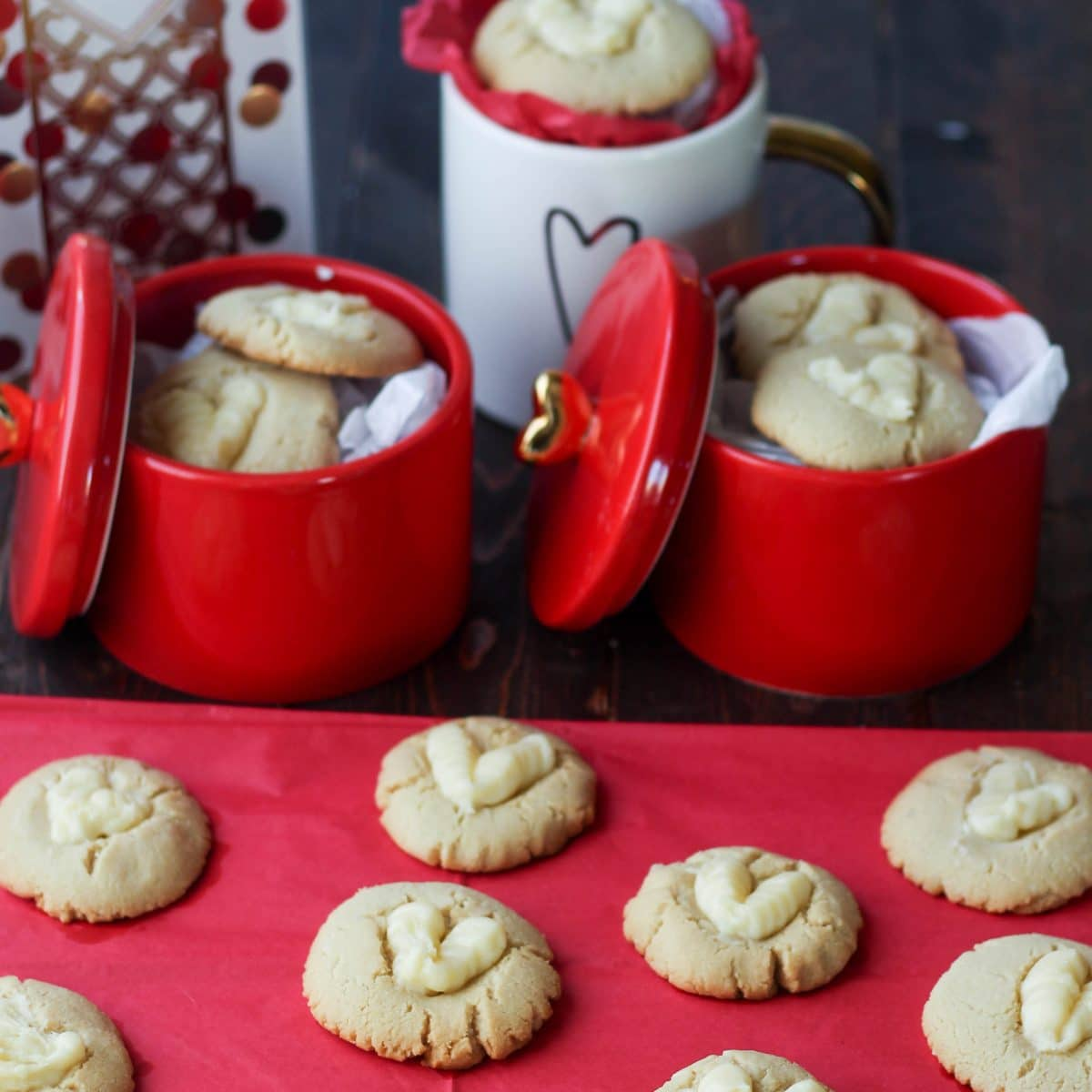 Flourless Frosted Thumbprint Cookies