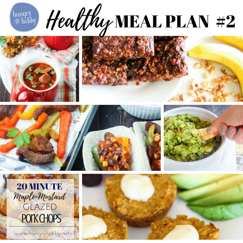 Healthy & Gluten Free Meal Plan Week 2