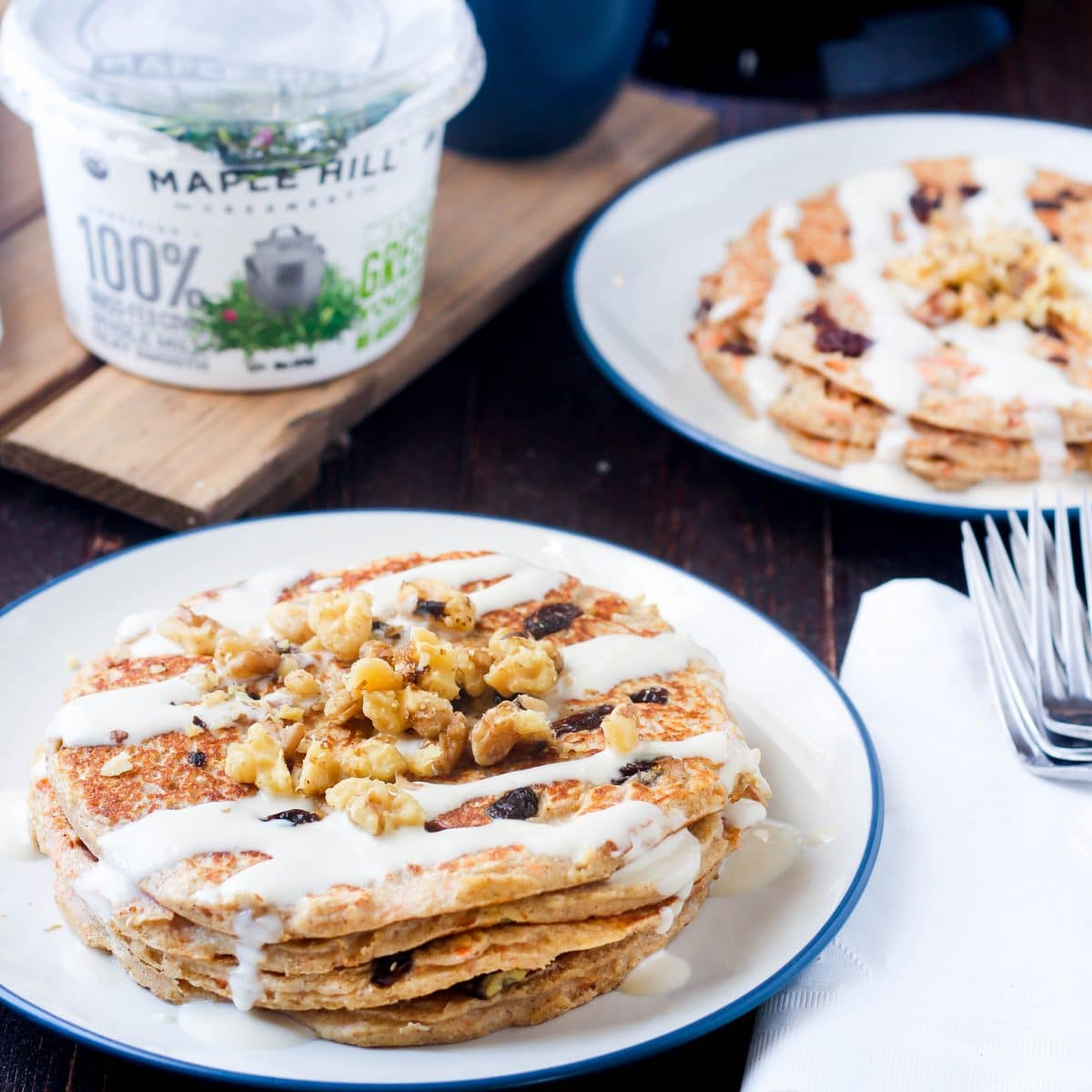 Gluten-Free-Carrot-Cake-Greek-Yogurt-Pancakes