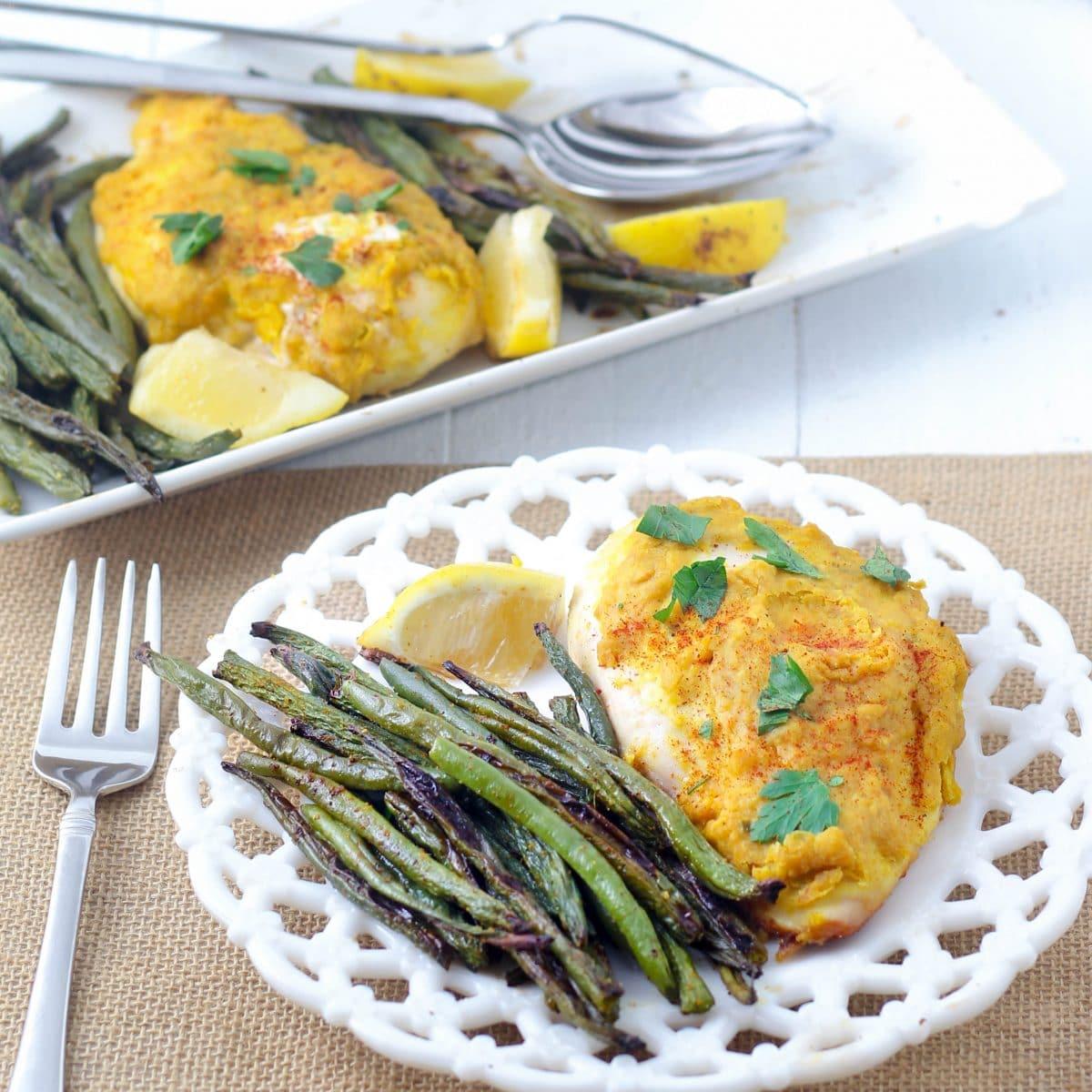 sheet-pan-hummus-chicken-green-beans-image