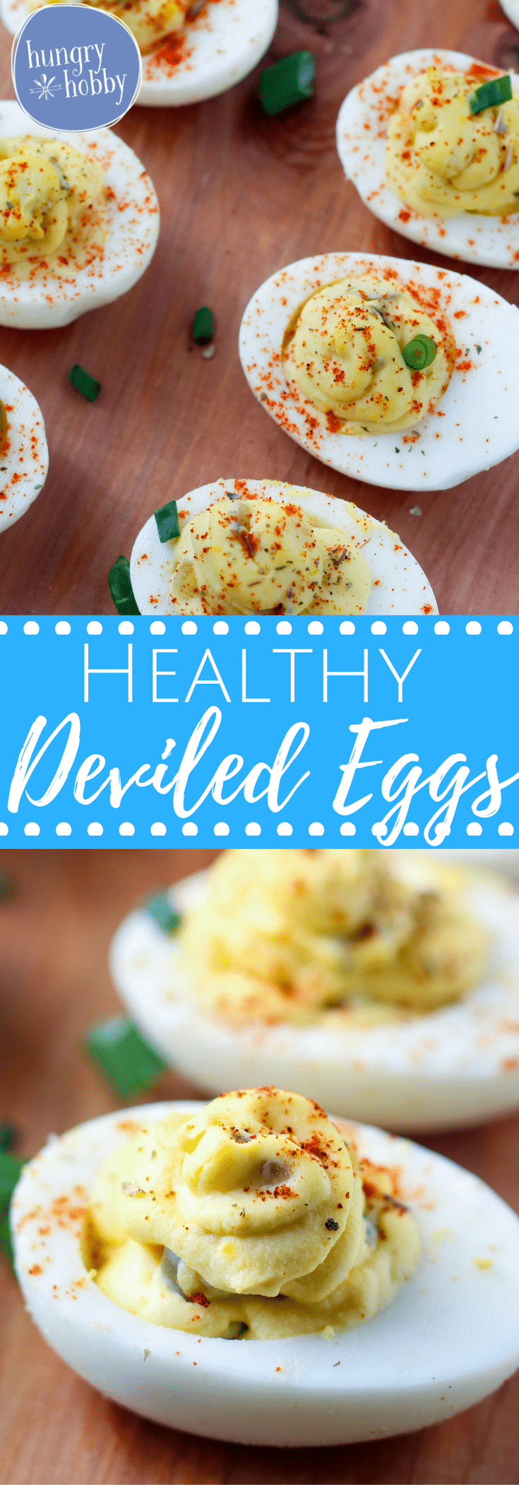 Healthy Deviled Eggs have a pillowy bed of flavorful tangy yolk on top a crisp cold shell, the perfect lighter version of this party favorite!  (No Yogurt)