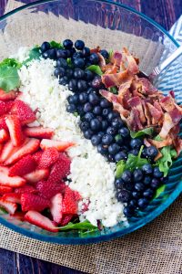 Berry Bacon Salad with Red Wine Vinaigrette