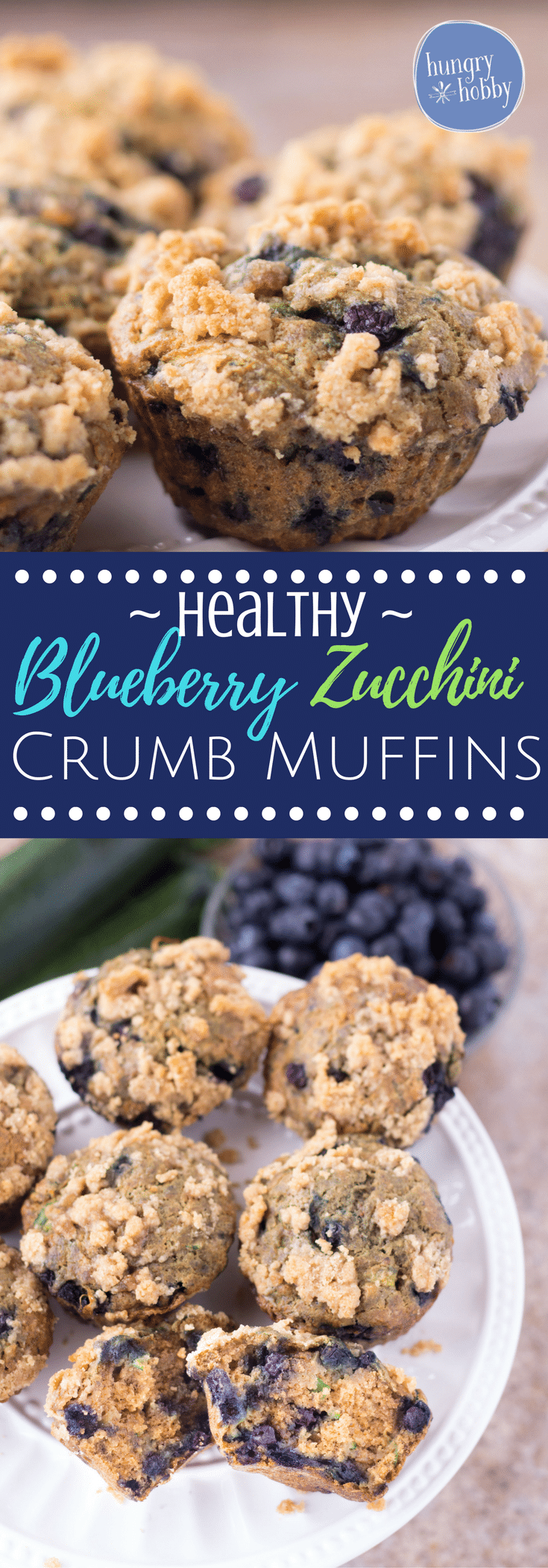 These healthy blueberry zucchini muffins are bursting with warm freshly baked blueberries and a sweet crumb topping, you'd never guess they contain a vegetable!