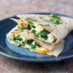 healthy-spinach-cheddar- breakfast-quesadilla-recipe