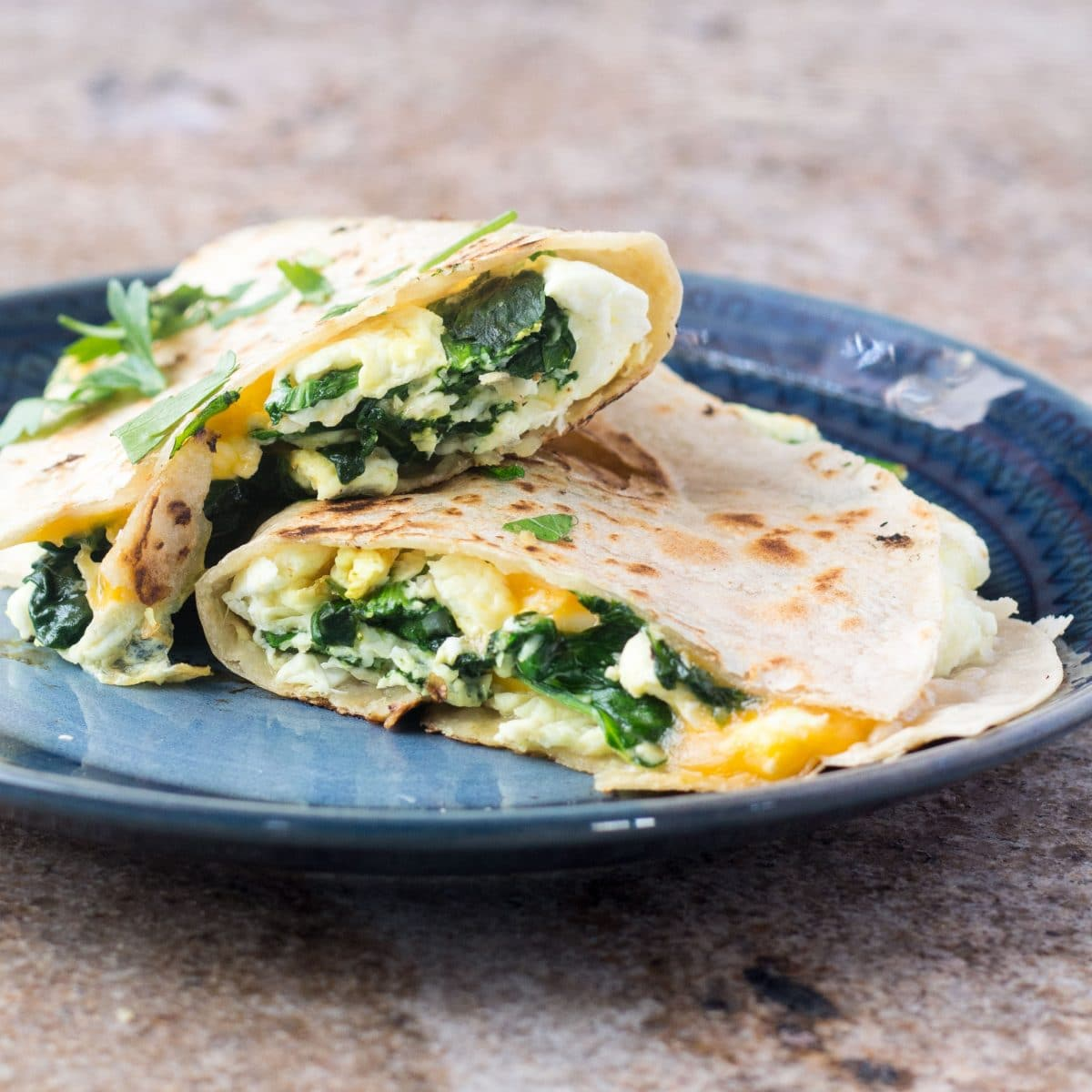 Healthy Breakfast Quesadilla Gluten Free Vegetarian