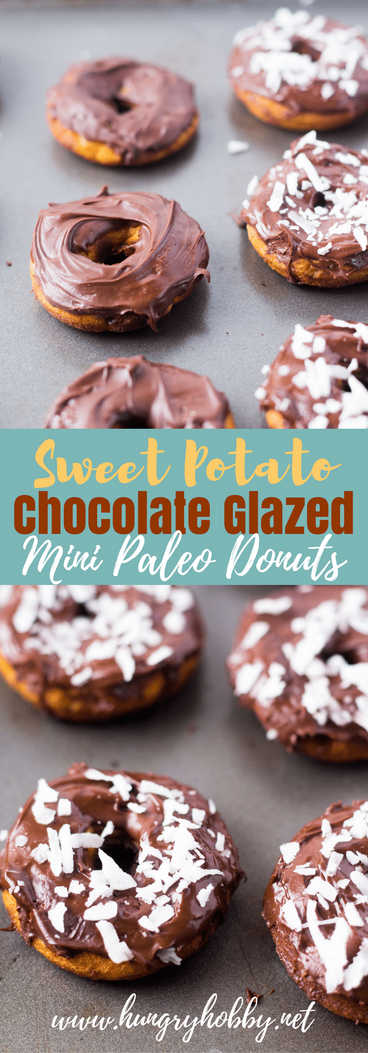 Think of a thick layer of chocolate glaze on top of a healthy gluten and dairy free mini sweet potato paleo donut!  A bite size treat you'll be famous for!