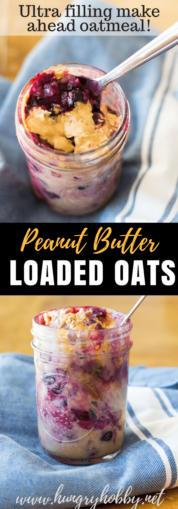 Warm bursting blueberries, drizzled with creamy peanut butter, and packed with protein, this is a bowl of oatmeal that will keep you full for hours!