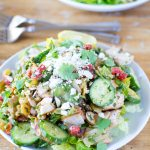 Chicken Shawarma Mediterranean Salad (Pita Jungle Copycat)