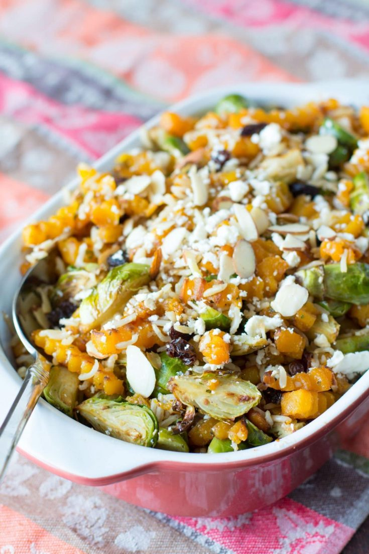 Oven Roasted Butternut Squash & Brussel Sprout Salad