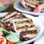 Grilled Ranch Pork Chops & Cucumber Tomato Salad