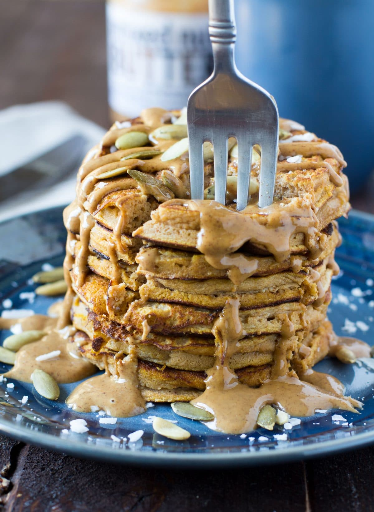 pumpkin-coconut-flour-pancakes